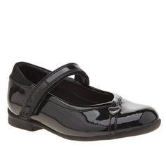Clarks Black Dolly Babe Girls Toddler Classic May Jane styling doesnt come any cuter than the Clarks Dolly Babe. This F width kids shoe arrives in glossy black patent leather, featuring a padded ankle collar. A handy hook-and-loop fasteni http://www.MightGet.com/january-2017-13/clarks-black-dolly-babe-girls-toddler.asp