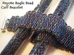 Peyote Bugle Bead Cuff Bracelet Photo by aseaofbeads | Photobucket