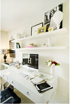 Home Office Ideas - chic desk space