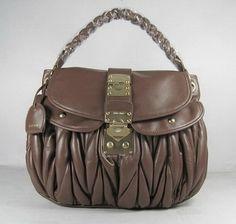 bd3789458620 Miu Miu Tassel Hobo Bags Nappa Leather 90260 Coffee