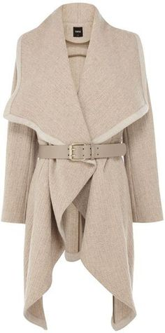 Mini Texture Drape Coat - Lyst