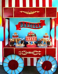 Magical Backyard Circus Train Party {Kids Birthday} // Hostess with the Mostess® Trains Birthday Party, Carnival Birthday Parties, Train Party, Baby Birthday, First Birthday Parties, Birthday Party Themes, First Birthdays, Themed Parties, Circus Train