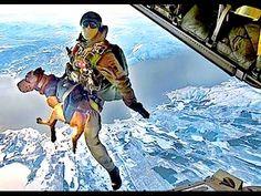 Navy Seals SkyDive parachute over the Naval Air Station in Coronado Island, San Diego, California ◘ VideoClip▶