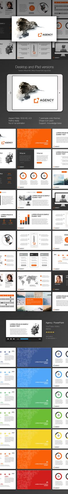 Agency PowerPoint Presentation Template #slides Download here: http://graphicriver.net/item/agency-powerpoint/14602025?ref=ksioks
