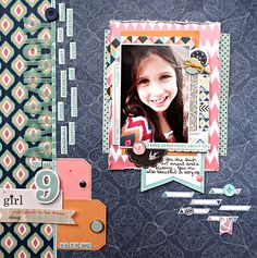 Layout by Heather using my papers and Life Pages cards from the September Gossamer Blue Kits