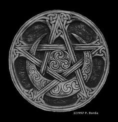 Moon Pentacle Stone Plaque LIMITED