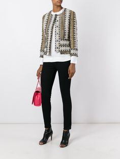 Tory Burch Fringed Tweed Jacket - Julian Fashion - Farfetch.com