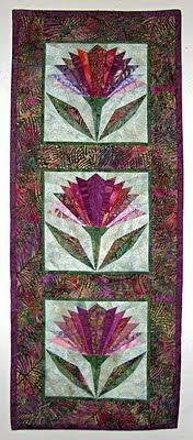 thistle wallhanging | ... and quilted, batik wall-hanging. I love the way these thistles look