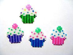Mini Cupcakes hama beads by myhkelismyy