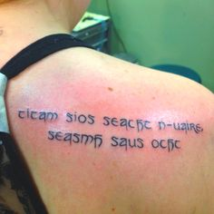 """This is my tattoo. It is Gaelic for """"fall down seven times, stand up eight""""   04apr2012"""