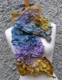 lovely nunofelt scarf