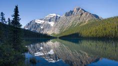 Cavell Lake and Mt. Edit Cavell, Jasper National Park, Alberta, Canada