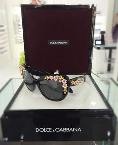 5eb3b94b2 Dolce & Gabbana Almond Flowers Collection... A romantic butterfly-shaped  sunglasses in