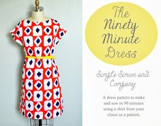 The 90 Minute Dress Tutorial - Simple Simon and Company, Kimono Tee Dress - nach eigenem Shirt