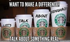 """Hey @Starbucks please do this to your coffee cups.... #tcot #tgdn #makedclisten #RedNationRising  #Starbucks"""