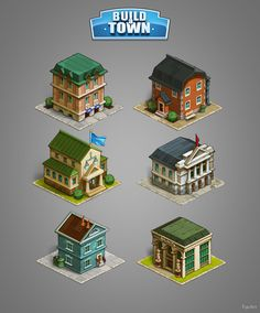 Graphics For Game Boild A Town By Via Behance