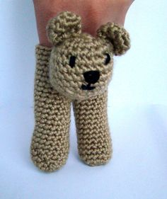 Two Finger Bear Puppet by PureCraft on Etsy, £6.00