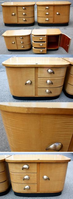 2 small chests of drawers old side tables by wohnraumformer