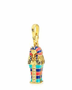 "KING TUT CHARM Detailshttp://www.juicycouture.com/King-Tut-Charm/098686434127.html $58.00 Final Sale Promotions 40% Off Full-Price Jewelry DETAILS STYLE YJRU7158 DESCRIPTION You've heard of vintage. This mummy charm goes beyond vintage-inspired. We call it ancient chic! Juicy logo on lobster clasp. Gold tone. .62"" L X .54"" W X 2.3"" H Imported Czw/Brass/Glass/Epoxy/Coating Variations SIZE ONE SIZE COLOR Gold $58.00"