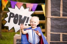 superhero themed 1st birthday shoot! I LOVE it!