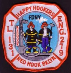 """FDNY """"The Happy Hookers"""" Ladder 131, Engine 279. RedHook, Brooklyn"""