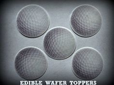 """24 GOLF BALLS BALL SPORTS PRECUT EDIBLE CUPCAKE TOPPERS 1.5\"""" SMALL 2 Dozen Set - Cake, Cookie, Lollipop and Cupcake Toppers, Decorations for Children's Birthdays Party Supplies ** You can find more details by visiting the image link."""