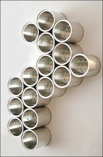 Paint Can Storage: stylish wall art and functional storage system! Very cool!