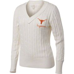 http://shop.texassports.com/Texas-Longhorns-Womens-Antique-White-V-Neck-Cable-Knit-Sweater-_2031168261_PD.html