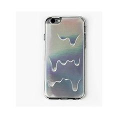 Clear Paint Drip Holographic iPhone 6 6S Case ❤ liked on Polyvore featuring accessories, tech accessories and phone cases