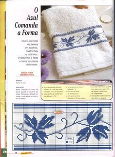 Did you know you can cross-stitch on a Crochet Afghan Tunisian piece as a cross-stitch background? Small Cross Stitch, Cross Stitch Borders, Cross Stitch Flowers, Cross Stitch Designs, Cross Stitching, Cross Stitch Embroidery, Cross Stitch Patterns, Hand Embroidery Designs, Embroidery Patterns
