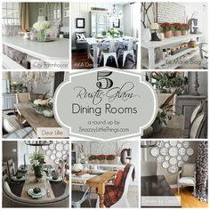 Today I'm honoring my favorite dining rooms across the web, designed and decorated by some very talented bloggers. I check in on these sites often for inspiration. Some will have a rustic vibe, some a little more glam. Each room having their own spin on how to to personalize the space. Think earthtones, natural woods,…