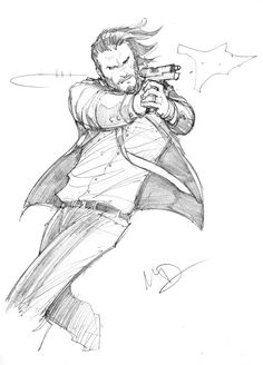 John Wick sketch by Max-Dunbar on DeviantArt Drawing Sketches, Art Drawings, Drawing Ideas, Character Inspiration, Character Art, Vexx Art, Accel World, Comic Kunst, Poses References
