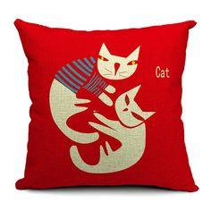Aliexpress.com: Comprar 2015 Cat Style moda de nueva cojín gato almohada impresión cama sofá Home almohada decorativa Fundas párr Almofadas Cojines de sofá de almohadas fiable proveedores en Smile to life