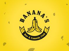 Banana's Bar & Comedy Bar, Branding on Behance
