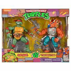 #PlaymatesToys #TeenageMutantNinjaTurtles Raphael vs. Tricereton 2-Pack Available Now #TMNT