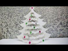 Пушистая новогодняя елка из бумаги своими руками // Paper Christmas tree - YouTube