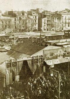 1890. Feria en la plaza de Emilio Castelar,