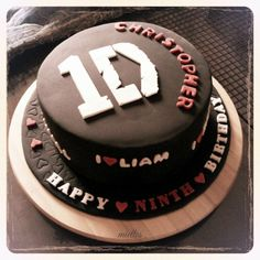 One Direction Cake - 1D - by miettes @ CakesDecor.com - cake decorating website