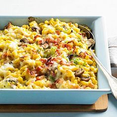 Cheesy Butternut Squash Cavatappi Bake From Better Homes and Gardens, ideas and improvement projects for your home and garden plus recipes and entertaining ideas.