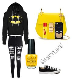 """""""Superhero"""" by kennedii on Polyvore featuring Glamorous, OPI, Converse, Chloé, Carmex, Casetify, women's clothing, women, female and woman"""