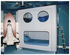 Out of this world space shuttle bedroom for kids