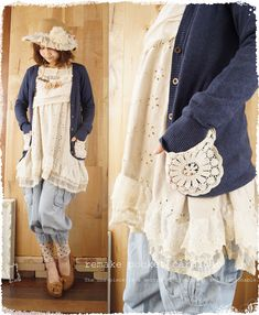 * Only remaining natural remake [Rakuten market from the time of 2/3 20. I had to calm feelings pocket cotton lace. Adult lap trick wind gray cardigan knit material is transparent. Corde is feminine Gunto. Cawaii shop Dress: Le - moth forest (not mail)