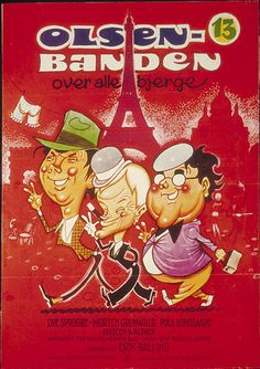 Olsen-banden over alle bjerge (Erik Balling, DK, 1981) This takes Egon and the gang to Paris, where they raise havoc at Maxim's by replacing the Sauce Imperial with traditional Danish gravy. They return to Denmark just in time for Keld and Yvonne's silver wedding anniversary. http://www.dfi.dk/faktaomfilm/film/da/242.aspx?id=242