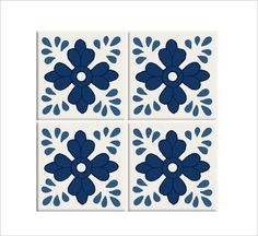 Tile/wall/Stair decal :Jaipur blue pottery Hand painted style tile stickers- (44 pieces)