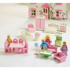 George Home Wooden Dolls House Furniture | Wooden Toys | ASDA Direct