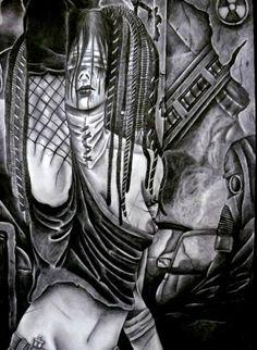 "Saatchi Art Artist Celeste Gómez; Drawing, ""CYBER OMEGA."" #art"