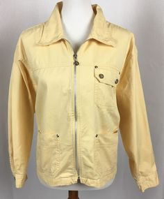 Fashion Bug Womens Jean Jacket Plus Size 18/20 Yellow Zipper Front  | eBay