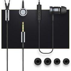 ROCK Mula Stereo Earbud Earphone with Mic 3.5mm Knurling Process #jewelry, #women, #men, #hats, #watches, #belts