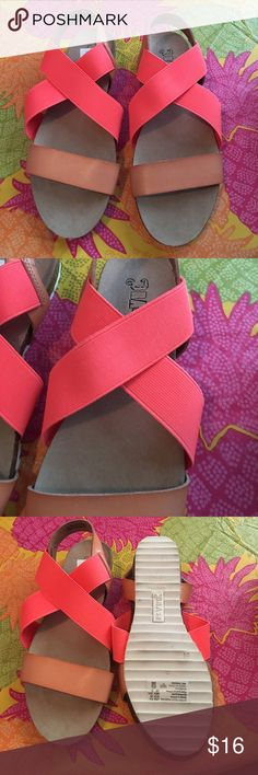 Brash Sandals Brand new brash coral sandals. So cute to pair with dresses and jeans! Size 6.5 in women's. Brash Shoes Sandals