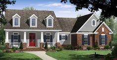 Elevation of Country   Craftsman   Traditional   House Plan 59950